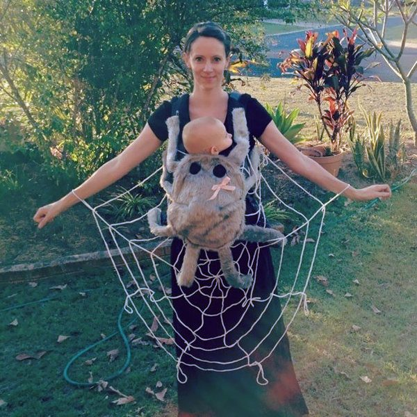 Spiderweb And Spider Funny Halloween