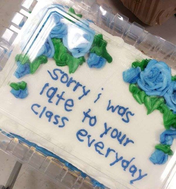 Tardy Apology