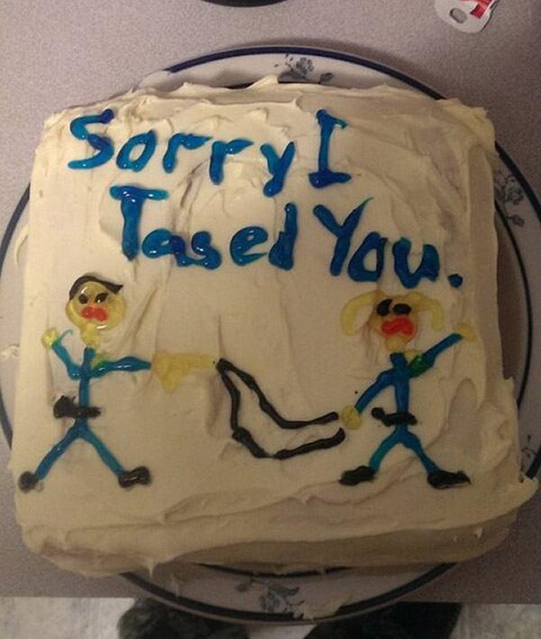 Taser Apologycake