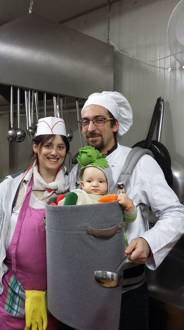 Vegetable Baby With Chef Parents