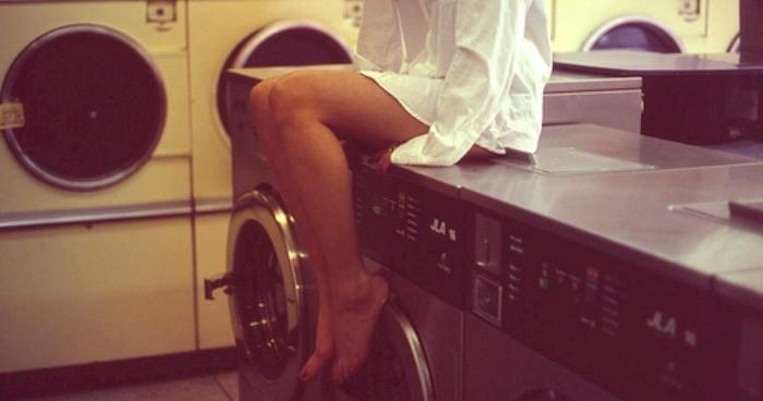 Fucking on washing machine