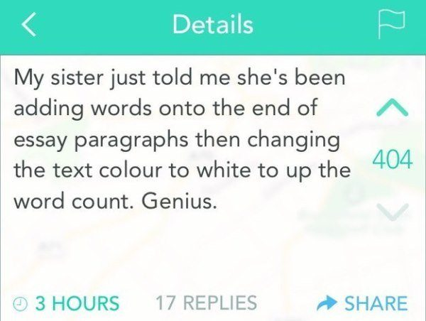 Word Count Hack