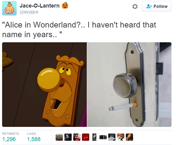 Alice Wonderland Doorknob