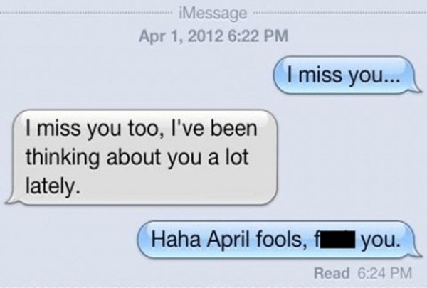 Awesome April Fool Message