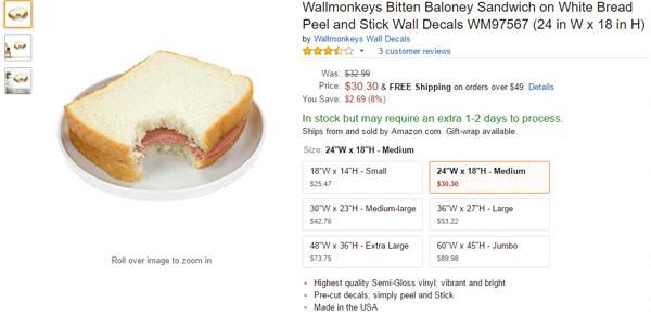 Baloney Sandwich Sticker