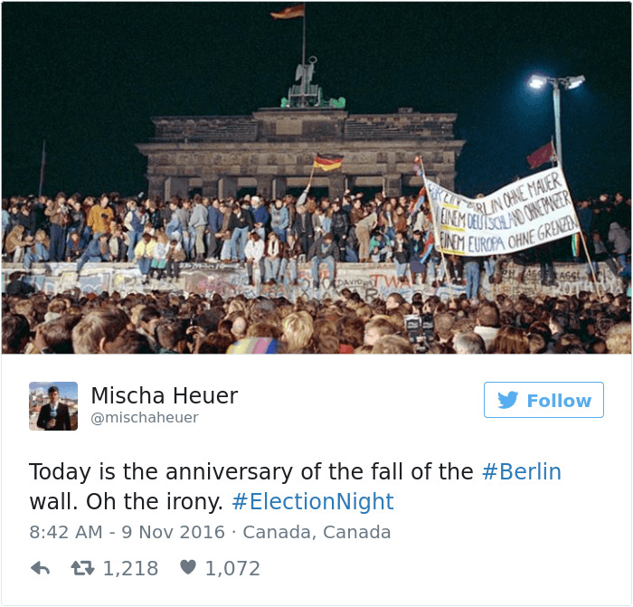 Berlin Wall And Election Night