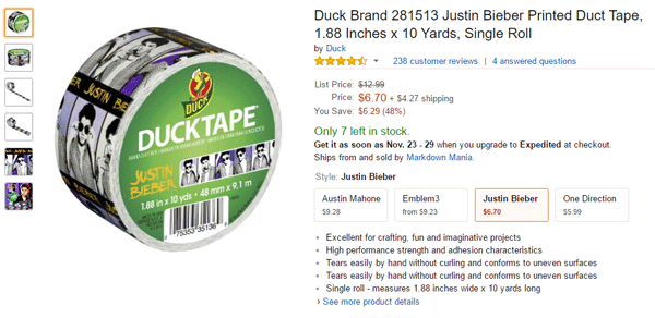 Bieber Ductape