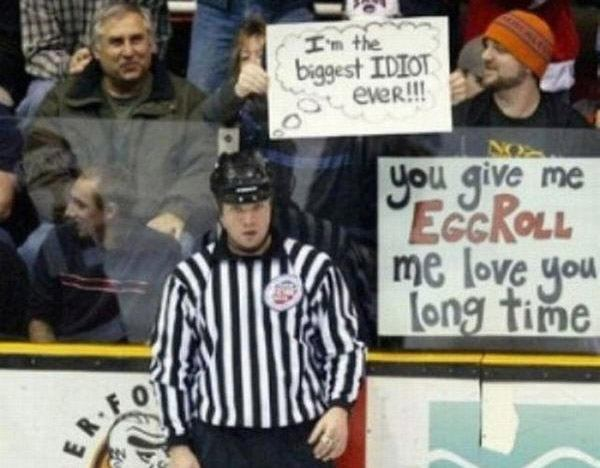 Biggest Idiot Funny Sports Signs