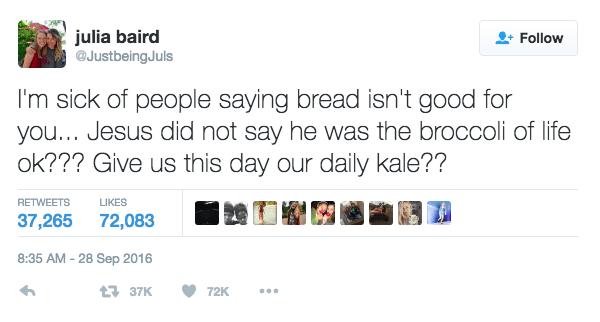 Bread Brocoli And Jesus