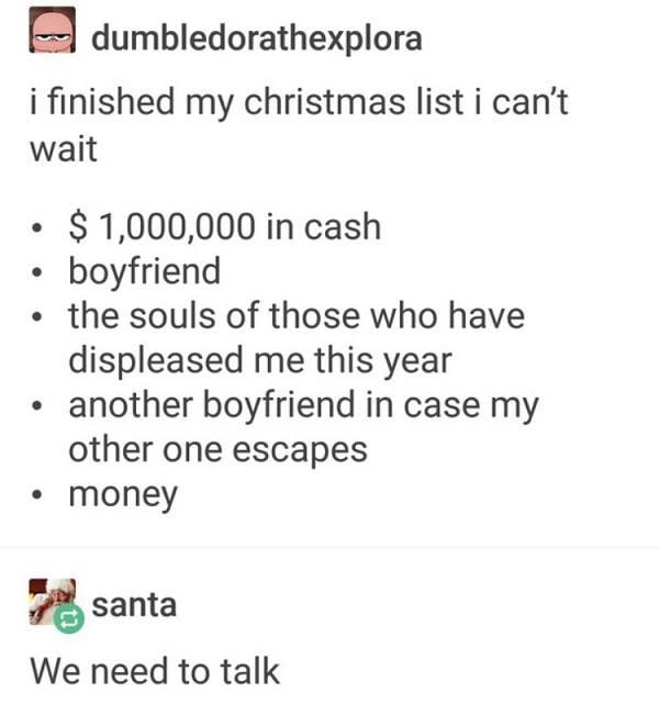 Christmas List Souls Boyfriends