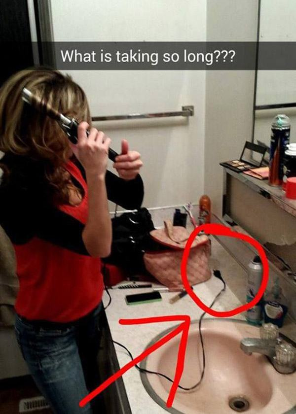Curling Iron Fail