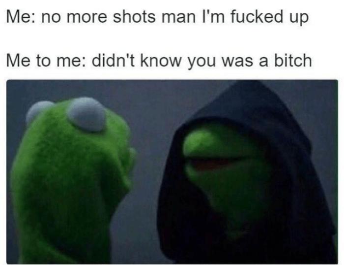 Evil Kermit Shots