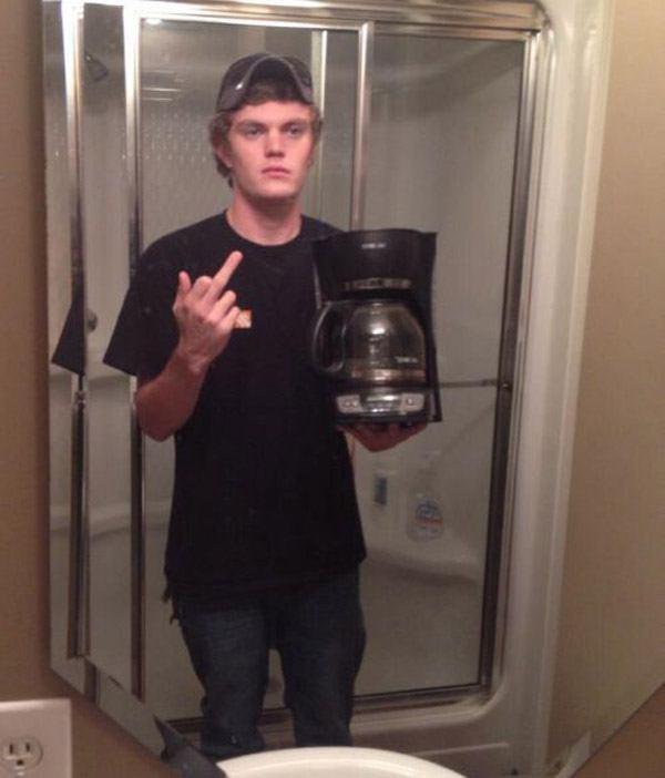 Fcuk Coffee Selfie