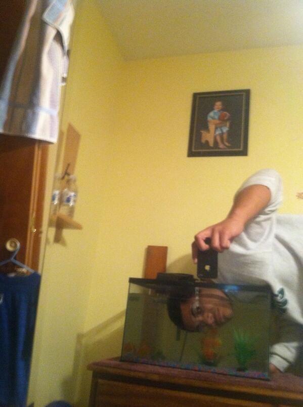 Fish Tank Selfie