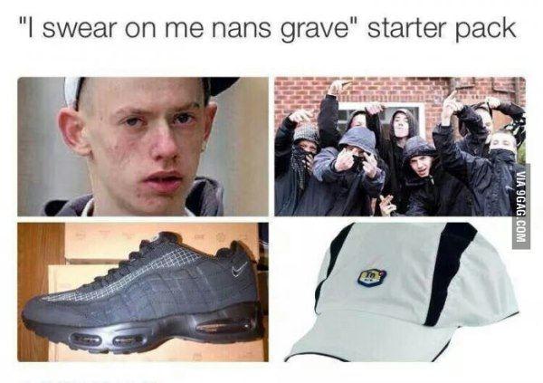 Funny Starter Packs Nans Grave