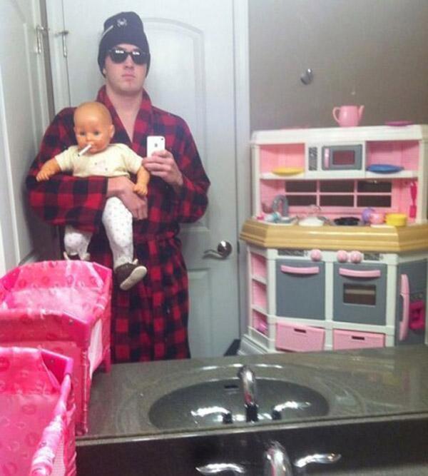 Gangsta Baby Selfie