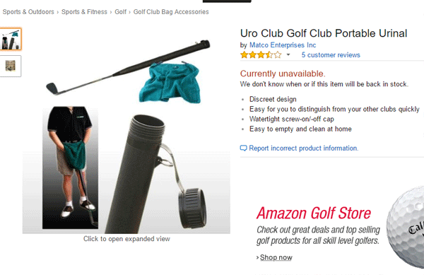 Golf Club Urinal