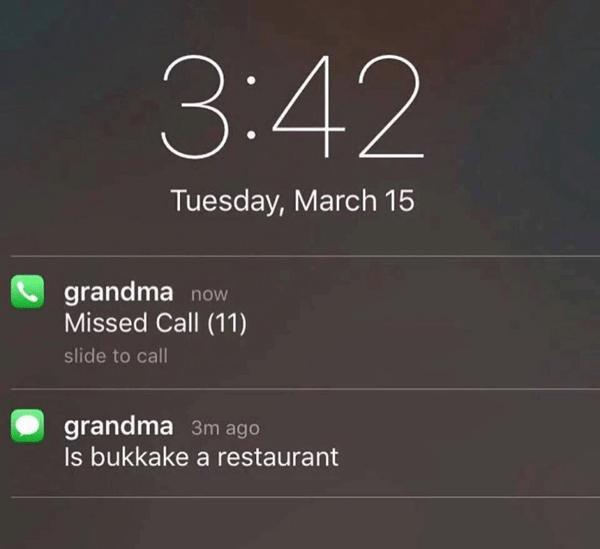 Grandma Text Bukkake