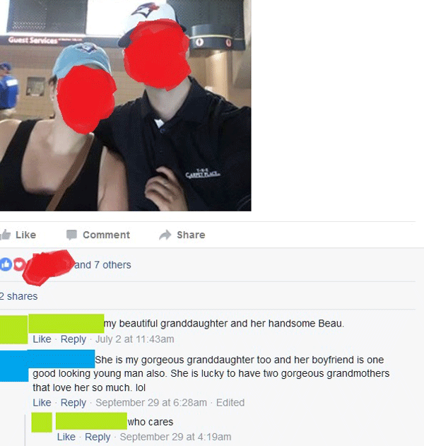 Grandma Throwing Shade