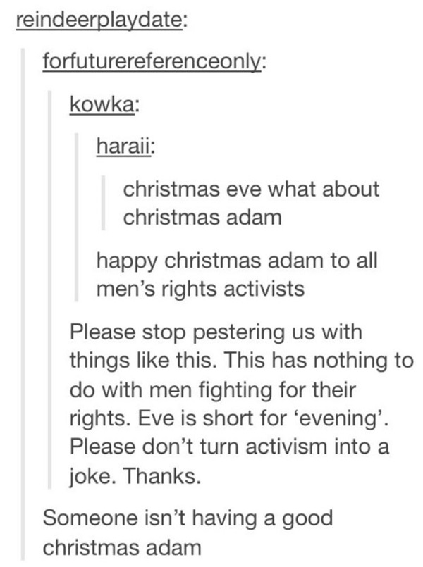 Happy Christmas Adam