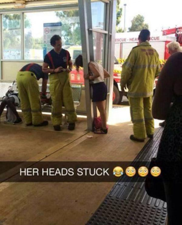 Head Stuck Snapchat
