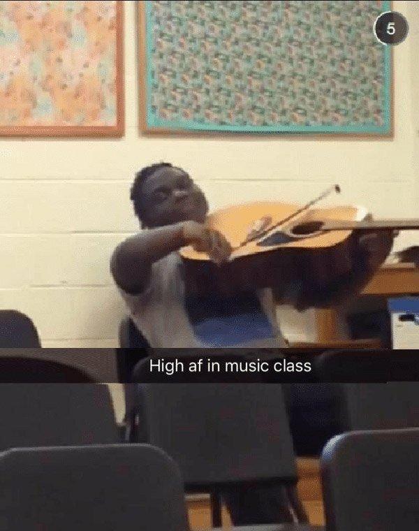 High In Music Class