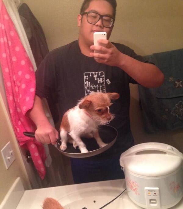 Hot Dog Selfie