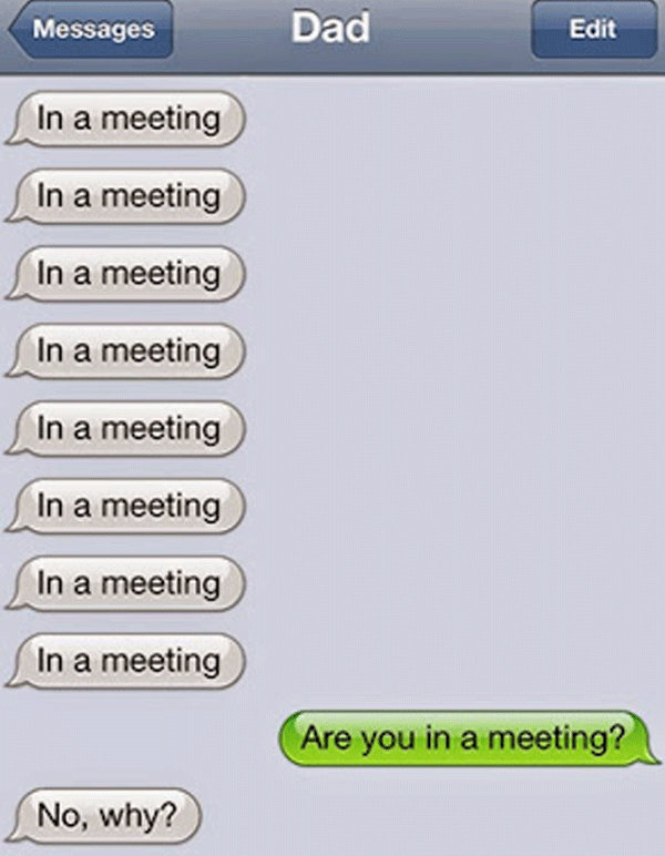 In A Meeting