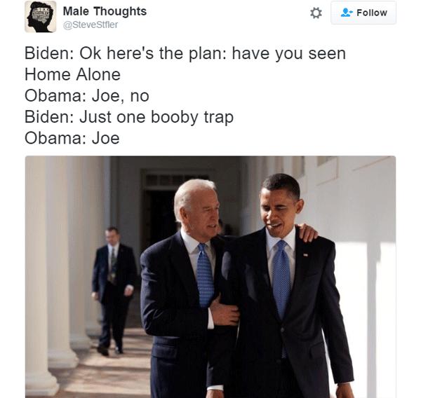 Joe Biden Booby Traps