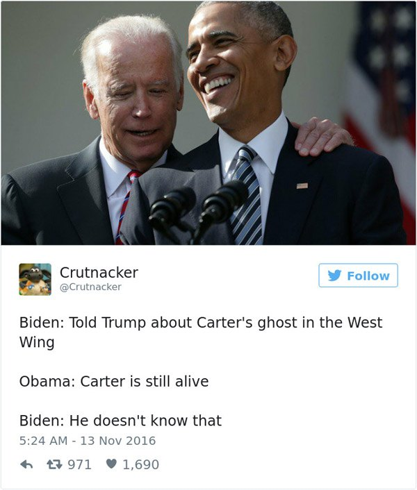 Joe Biden Carters Ghost