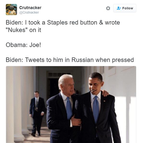 Joe Biden Stapleprank
