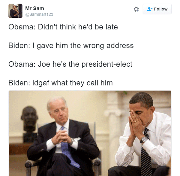 Joe Biden Wrong Address Prank