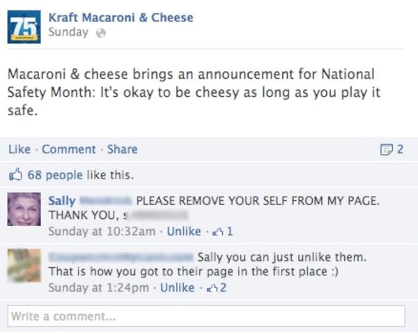 Kraft Facebook