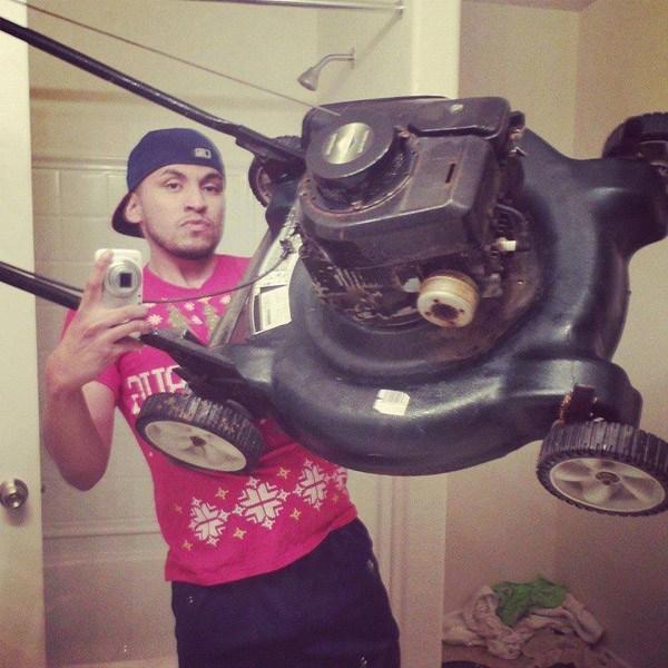 Lawn Mower Selfie