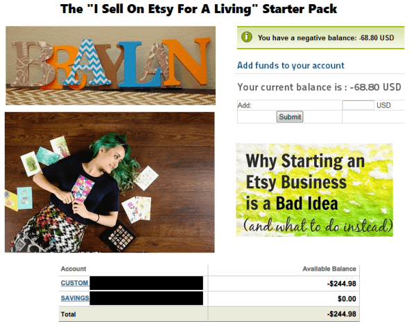 Making A Living On Etsy