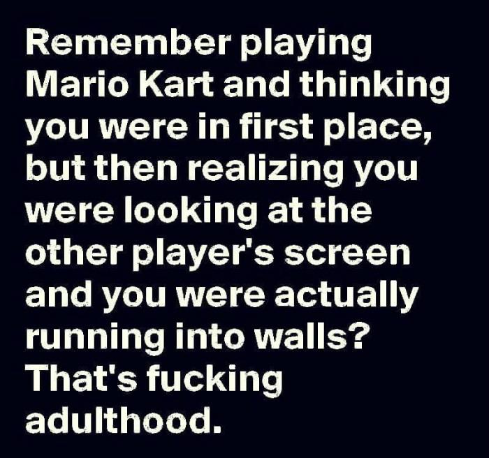Mariokart Adulting