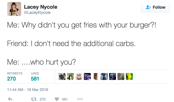 Never Deny Additional Carbs