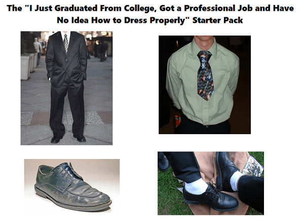 No Idea How To Dress Starter Pack