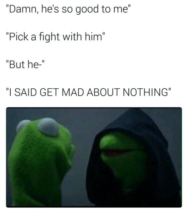 Pick A Fight Evil Kermit