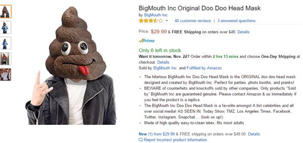 Poo Mask