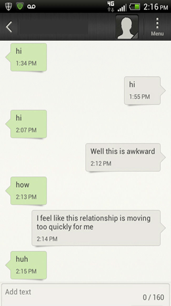 Relationship Moving Too Quickly