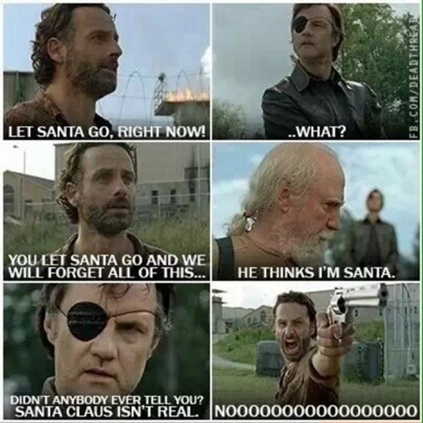 Santa Hershel Walking Dead Memes