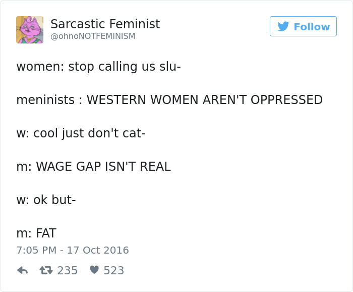 Sarcastic Feminism At Best