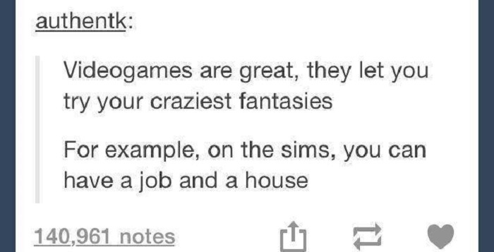 Sims Job And House