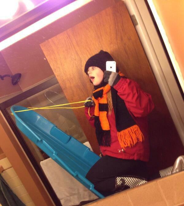 Sledding Selfie