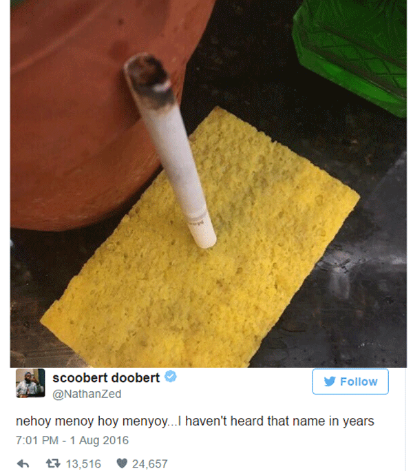 Sponge Smoking Cig