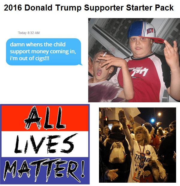 Trump Supporter Starter Pack
