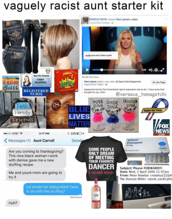 Vaguely Racist Aunt Starter Kit Shared Tomi Lahrens Video Couldnt 3583166