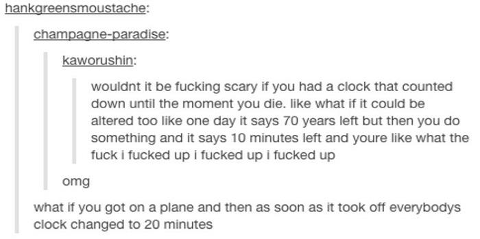 Clock Countdown Death Plane