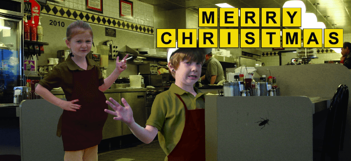 Diner Funny Christmas Cards